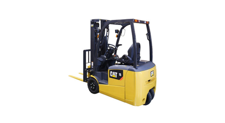CAT BRAND NEW BATTERY POWERED 3-WHEEL FORKLIFT TRUCKS: EP13 - 20TCB