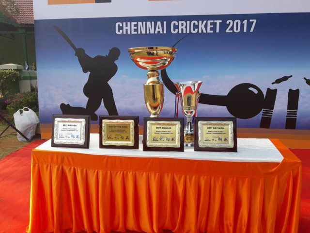 Defending Champions UTE won the Caterpillar Challenge Trophy Cricket